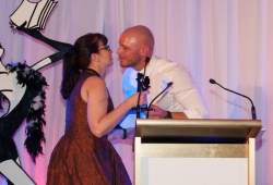 Sassy Winner Kim Swivel with Paul de Gelder