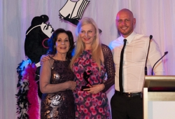 Selwa Anthony with Sassy Winner Anna Romer and Paul de Gelder