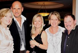 Left to right: Juanita Phillips, Mario Milostic, Lisa Davies, Christine Huxley, Pat Huxley