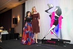 Sassy Award presenter and author, Tara Moss with Selwa Anthony