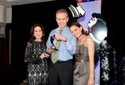 Award winner Robert Gorman (centre)