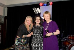 Award winner Sue Williams (right), with Karen Sweeney (left) and Selwa Anthony