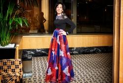 Selwa Anthony dressed by Lia Tsimos of Moss & Spy